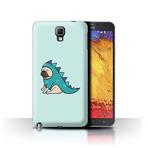 Stuff4® Hülle/Case für Samsung Galaxy Note 3 Neo/Dinosaurier Outfit Muster/Karikatur Mops Kollektion