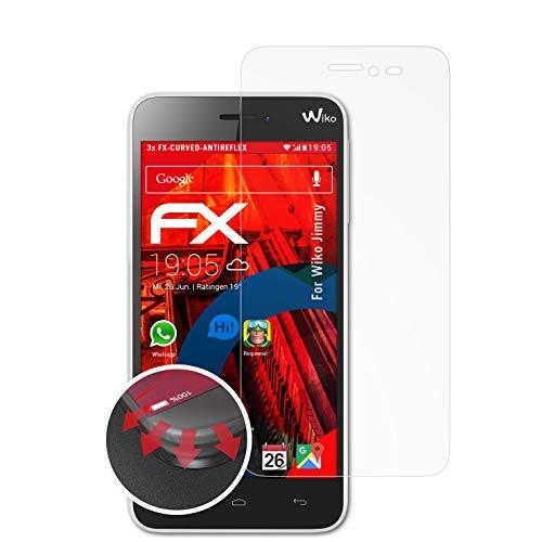 atFolix Schutzfolie passend für Wiko Jimmy Folie, entspiegelnde & Flexible FX Bildschirmschutzfolie (3X)