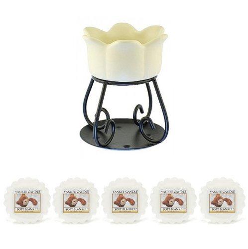 Yankee Candle-5x Soft Decke Wachs Stück) + Wachstörtchenhalter-Creme