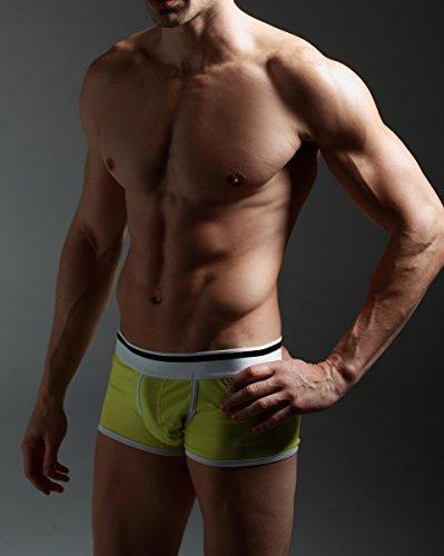 Xuba Herren Boxershort Unterhose Sexy Retroshort Unterwäsche Boxer Briefs Trunks Hipster Gelb