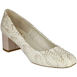 Riva Burrow Snake Ladies Court Shoe Natural - 37