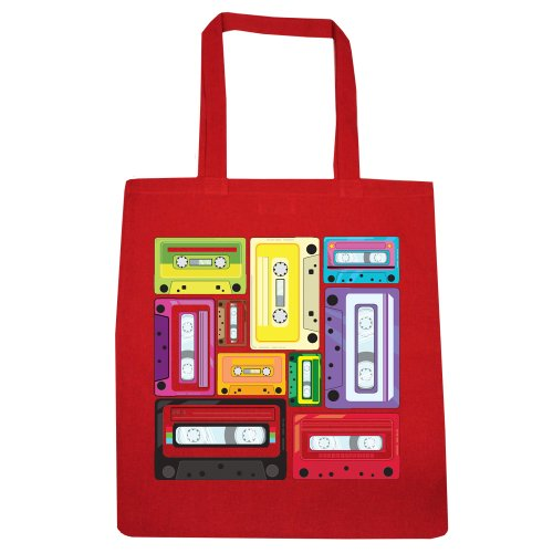 Colourful Cassettes Tote Bag - Black Only