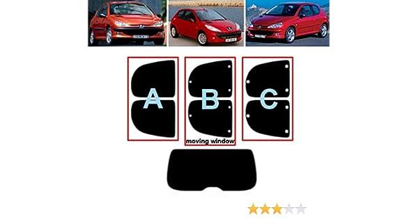 50/% Light Smoke B Tintcom.com Kit teint/é pr/é-d/écoup/é pour fen/être Peugeot 206 3 Portes Hatch 1999-2010