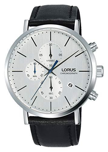 Lorus Hommes Chronographe Quartz Montre avec Bracelet en Cuir RM327FX9
