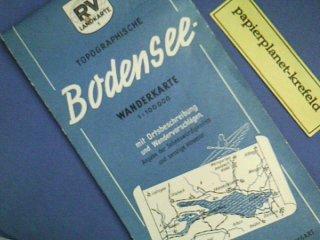 Preisvergleich Produktbild Topographische Bodensee-Wanderkarte 1 : 100 000, RV Landkarte 9