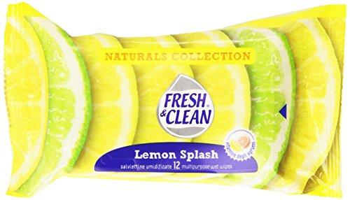 Fresh & Clean - Salviettine Umidificate, Lemon Splash - 6