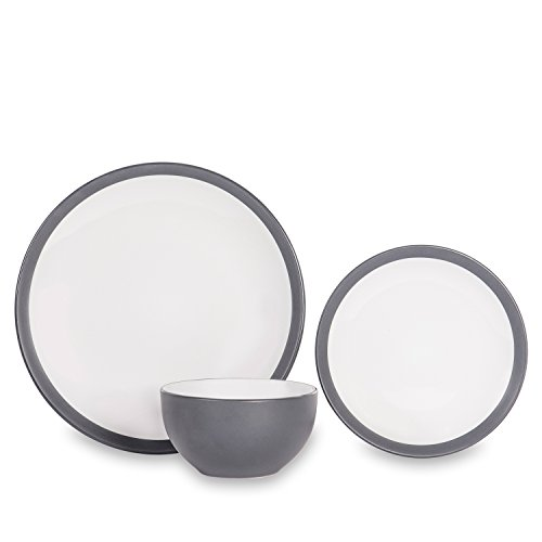 Sabichi Noah Dinner Set, Stone, Grey, 20.5 x 28.5 x 29 cm