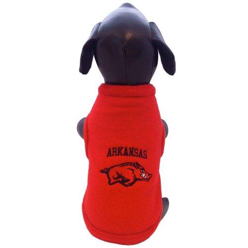 All Star Dogs NCAA Arkansas Razorbacks Polar Fleece Hunde-Sweatshirt, Unisex-Erwachsene, Team Color, Medium All-star-pullover