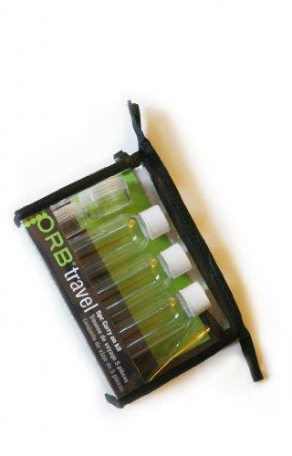 ORB Travel 5 pcs Kit (3 PCS 50ML bouteilles, deux PCS 10ML Jar), PVC Pouch, intelligent Voyage Bouteille Set