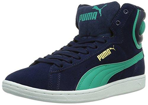 Puma Puma Vikky Mid Wn's, Damen Hohe Sneakers, Blau (peacoat-pool green 03), 39 EU (6 Damen UK) (Damen Pool)
