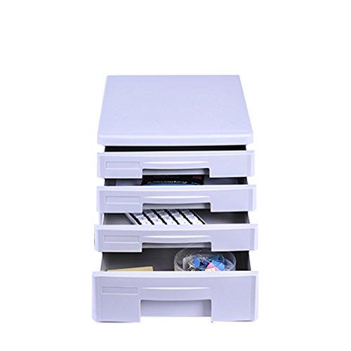 Desktop-CAB-Datei, Mini-Schreibtisch Aktenschrank Veranstalter, Organisator 4 Schublade Home Office Aktenschrank Mit Seite Halter Für Dokumente, Papiere, Dateien, Stifte, Mails, Schere,White