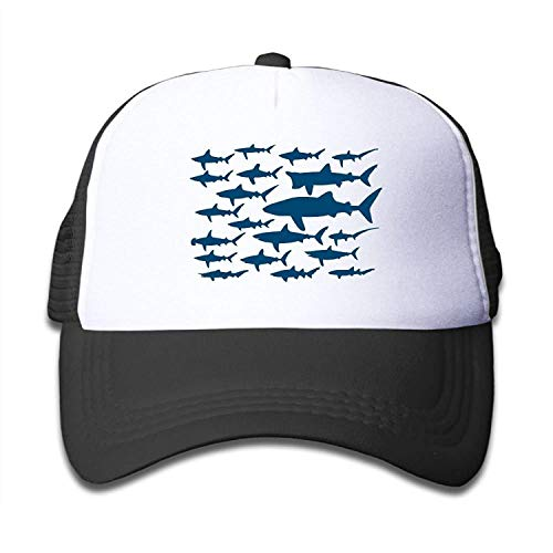 Imagen de ocean shark sea fish mesh hat baseball cap adjustable hip hop trucker plain flat hats for toddler boys girls 03vv9080