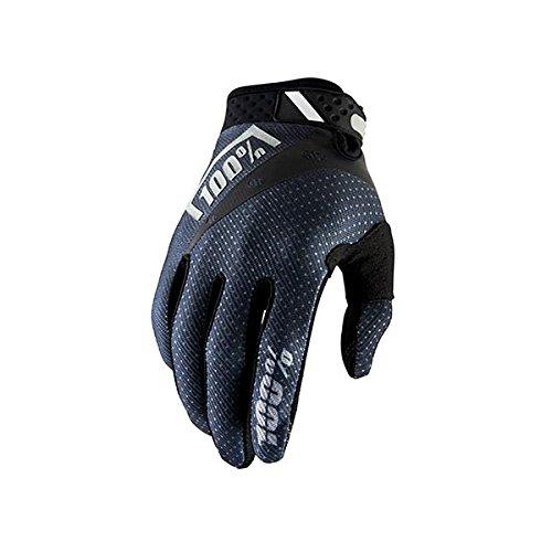 100% Ridefit MTB Handschuh Unisex Erwachsene, schwarz (Downhill-mountain-bike-bremsen)