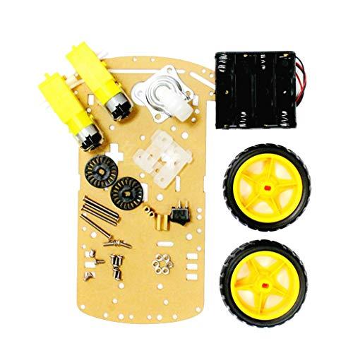 perfk Zwei-Rad-Smart-Auto-Chassis Bluetooth-Fernbedienung Autozubehör. Mechanische Struktur Roboter DIY Kit (Smart-auto-fernbedienung)