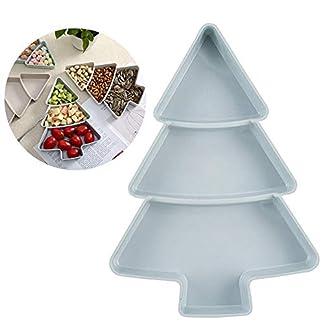 QIHONG – Bandeja para postres con forma de árbol de frutas, bandeja de plástico creativa para servir platos, vajilla creativa para Navidad, la mayoría de decoraciones de fiesta rosa
