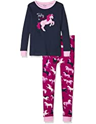 Hatley Pj (App) -Horses-Pretty In Pink, Pijama Para Niños