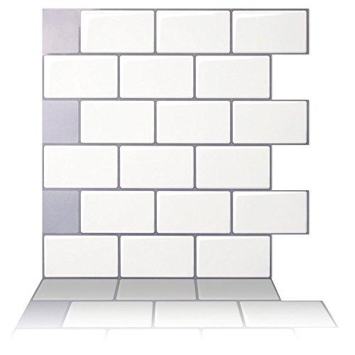 Tic Tac Tiles Anti Schimmel Peel Und Kleben Wandfliese In U Bahn Design 10 Mono Weiß