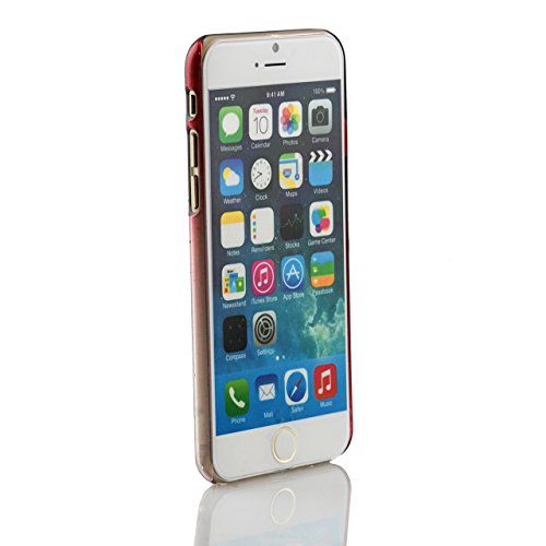 "iProtect Apple iPhone 6 (4,7"") Hülle Raindrop Hard Case Schutzhülle transparent pink Raindrop Case Rot"
