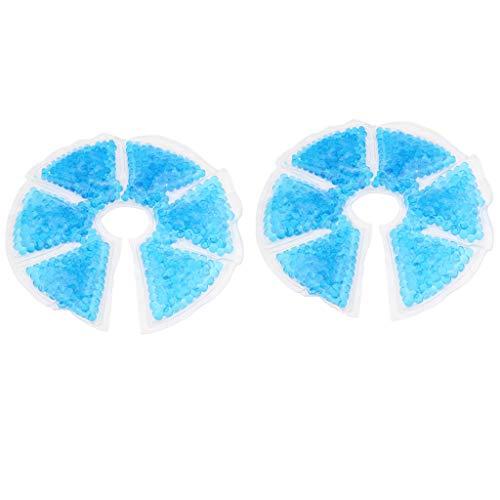 2x Kühlkissen Kühlpads Kälte- & Wärmekompressen Heiße und Kalte Packung Gelpackung mit Perlen für das Stillen von Müttern