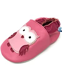 MiniFeet Premium Soft Leather Baby Shoes - Pram Shoes - Toddler Shoes 0-6, 6-12, 12-18, 18-24 Months & 2-3, 3-4, 4-5 Years