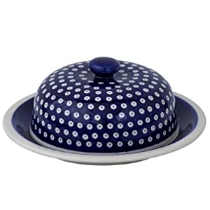 Original Boleslawiec Large Cheese Cover in the Decor 42 – GU-889/42