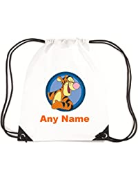 Personalised Tigger Style School/PE/Swim Bag *choice of name colour* By Mayzie Designs®