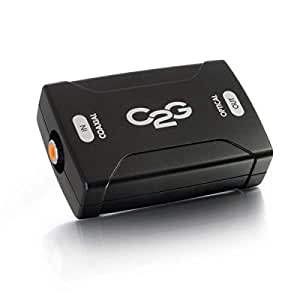C2G/Cables to Go 40018 Coaxial to Toslink Optical Digital Audio Converter, TAA Compliant