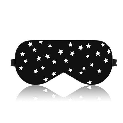 lonfrote verstellbar Sterne Seide Schlaf Augenmaske Schlafmaske mit Ohrstöpsel und Tragetasche, leicht & bequem und verstellbar, super weiches Material für herren und Frauen reisen, Nap, Shift (Bequemer Sleep)