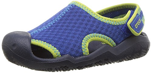 Crocs Swiftwater Mesh Sandals Kids, Unisex - Kinder Geschlossene Sandalen, Blau (Blue Jean/navy), 32/33 EU