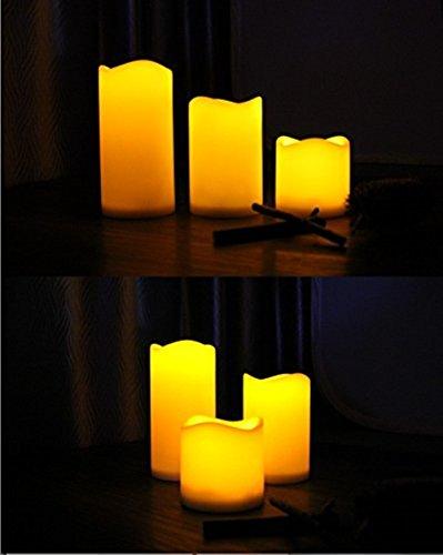 colorfulworld Llama LED cambio de color velas (funciona con pilas con mando a distancia y temporizador