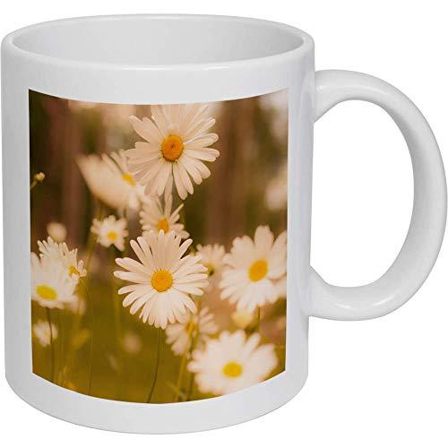 Azeeda 320ml 'Fleurs Marguerite' Tasse en céramique (MG00004107)