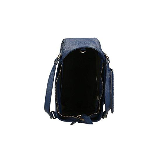Chicca Borse Borsa a mano in pelle 32x23x15 100% Genuine Leather Blue