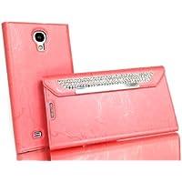Exklusive-Cad Samsung-S4-Flip-Case-Strass-Pink Cover Clutch Edel Strass Flip Case für Samsung Galaxy S IV i9500