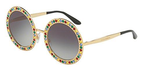 Dolce & gabbana 0dg2170b 02/8g 51, occhiali da sole donna, oro (gold/greygradient)