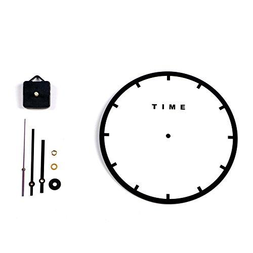 Dxnspf orologio da parete colorato e moderno elegante alla silenzioso senza ticchettio orologio della cucina / della casa / parete del salone 11 pollici - nero