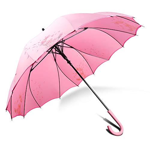 Sturm Regenschirm Stockschirm Klein Rosa, Der Einzige Aus Einer Ganzen Plane Hergestellte, 100% Starker Winddicht Regenschutz, Geht Nie Leicht Kaputt ZX popular