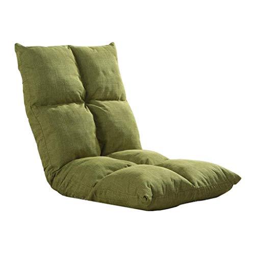 Willsego sedia da terra regolabile lettino da gioco pieghevole meditazione indoor lazy lounge sofa soggiorno (grigio, viola, verde) (colore: grigio) (colore : verde, dimensione : -)