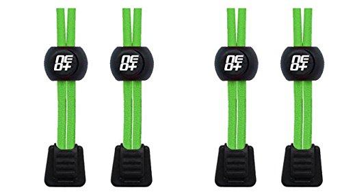 E 2 Néon Para Cordões Conjuntos Triatlos Executar Elásticos Verde De wqtX8Sq6x