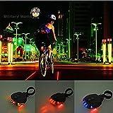 Multicolor : (5LED+2Laser) 7 Flash Mode Riding Cycling Safety Bicycle Rear Lamp Bike Laser Taillight Warning Lamp Flashing