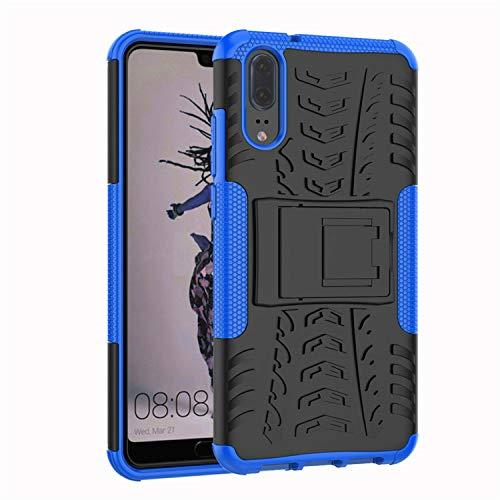 betterfon | Outdoor Handy Tasche Hybrid Case Schutz Hülle Panzer TPU Silikon Hard Cover Bumper für Huawei P20 Blau