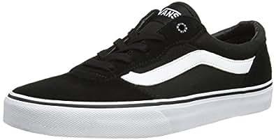 Vans Milton, Sneakers Basses homme, Noir (Suede Canvas/Black/White), 40 EU (6.5 UK)