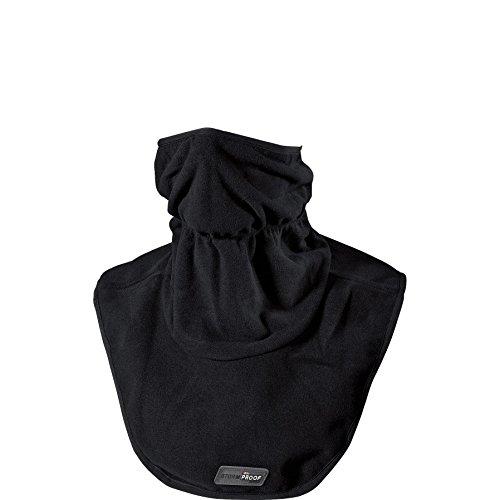 Thermoboy Gesichtsschoner, Halskrause Fleece-Halswärmer 1.0, winddicht, atmungsaktiv, Stretch am oberen Abschluss sowie unter dem Kinn, 100% Polyester, Schwarz, Einheitsgröße