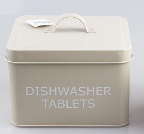 Vintage estilo retro lata de pastillas de lavavajillas caja de almacen