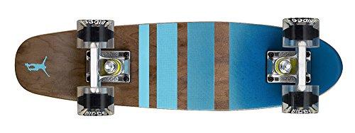 Ridge Erwachsene Maple Holz Mini Cruiser Number Three Skateboard, Clear, MPB-22-NR3