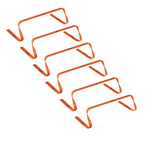 Kosma 6er Pack Agility Training Fitness Flache Hürden   Multi-Sport Speed Trainingshilfe mit Tragegriff: Größe 12 Zoll - Farbe: Orange -