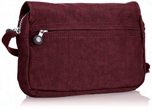 Kipling - Borsa a tracolla Delphin N, Donna Rosso (Rot (Crimson A12))
