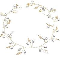 ZEELIY Crystal Headband, Bridal Hair Vine Silver Leaf Wedding Hair Accessories Bridal Headpiece for Bride and Bridesmaids