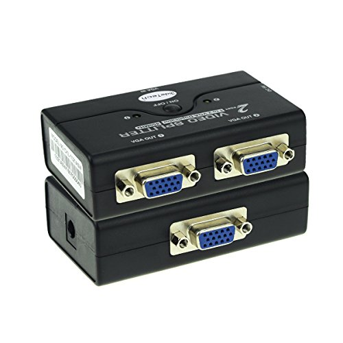 VGA Splitter Box 1 Entrada 2 Salida Mini Switch Box