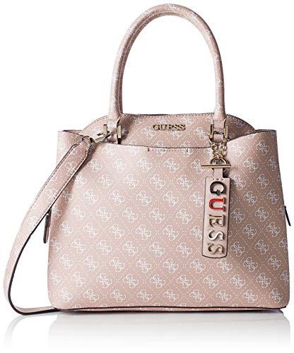 Guess Damen Maci Large Girlfriend Satchel Shopper, Weiß (Rosewood), 32x27x12.5 centimeters - Handle Satchel Bag