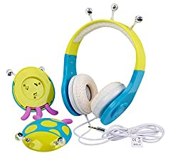 Blue Green Ladybird Children's Headphones For Apple Ipod Shuffle, 4th Generation